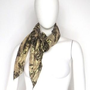 H&M GOLD NUDE METALLIC SCARF very chic